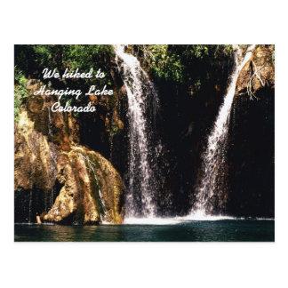 Cartão Postal Nós caminhamos ao lago de suspensão, Colorado