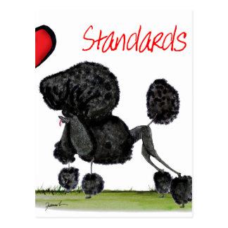 Cartão Postal nós caniches padrão do luv de Tony Fernandes
