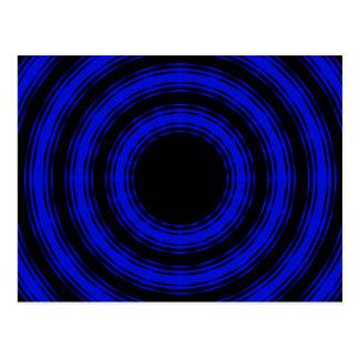 Cartão Postal Nos círculos (versão azul)