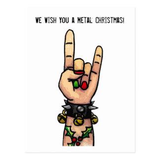 Cartão Postal Nós desejamos-lhe um Natal do metal