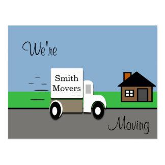Cartão Postal Nós estamos movendo cena movente do caminhão