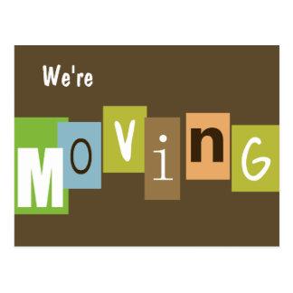 Cartão Postal Nós estamos movendo-nos