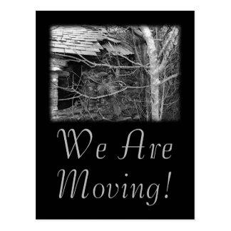 Cartão Postal Nós estamos movendo-nos. Casa de campo e árvore