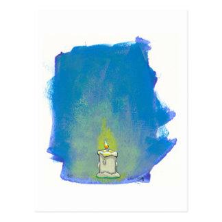 Cartão Postal Nós iluminamos uma vela & damos a obrigados a arte
