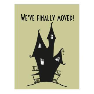 Cartão Postal Nós movemo-nos finalmente! Casa assombrada