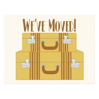 Cartão Postal Nós movemo-nos - malas de viagem do vintage