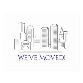 Cartão Postal Nós movemos a skyline da cidade de Boston