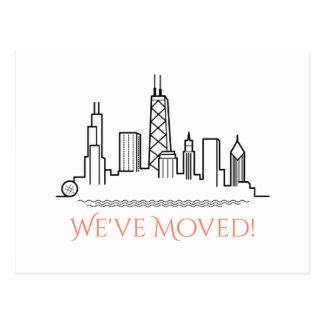 Cartão Postal Nós movemos a skyline da cidade de Chicago