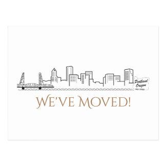 Cartão Postal Nós movemos a skyline da cidade de Portland
