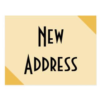 Cartão Postal Nós movemos o endereço novo