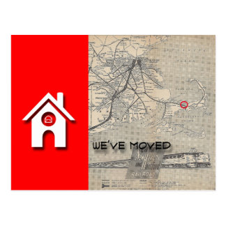 Cartão Postal Nós movemos o mapa da casa de W substituímos com