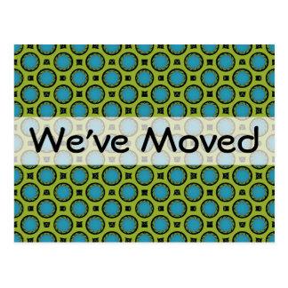 Cartão Postal Nós movemos o verde de turquesa
