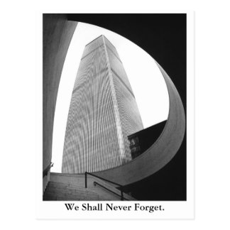 Cartão Postal Nós nunca esqueceremos