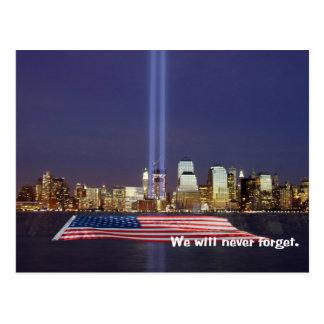 Cartão Postal Nós nunca esqueceremos o tributo 9-11
