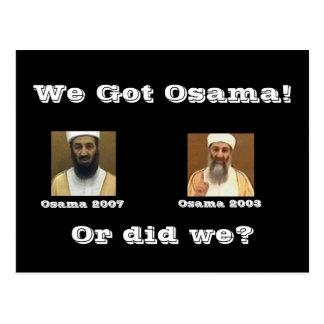 Cartão Postal Nós obtivemos Osama!