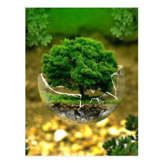 Cartão Postal Nós podemos ser a mudança & salvar a terra!