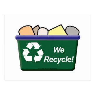 Cartão Postal Nós recicl!