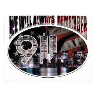 Cartão Postal Nós recordaremos sempre 9/11