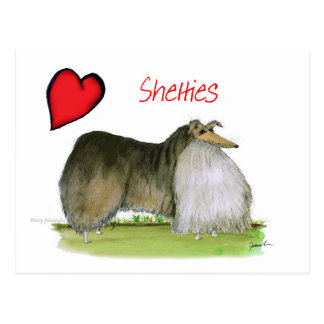 Cartão Postal nós sheepdogs de Shetland do luv de Tony Fernandes