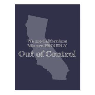 Cartão Postal Nós somos californianos que nós somos orgulhosa