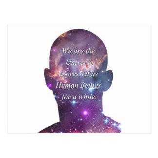 Cartão Postal Nós somos o universo