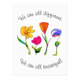 Cartão Postal Nós somos tudo diversidade diferente & bonita