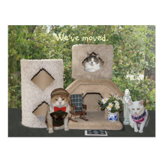 Cartão Postal Nós transportamo-nos a uma casa mais grande