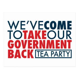 Cartão Postal Nós viemos retirar nosso governo