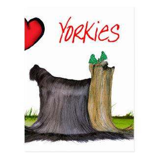 Cartão Postal nós yorkies do luv de Tony Fernandes