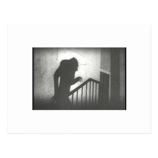 Cartão Postal Nosferatu que rasteja as escadas