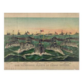 Cartão Postal Nossas frotas vitoriosos no cubano molham Ives