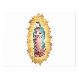 Cartão Postal Nosso design do mosaico da senhora Guadalupe