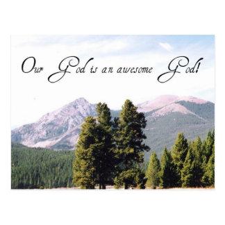 Cartão Postal Nosso deus é um deus impressionante!
