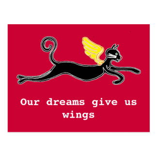 Cartão Postal Nossos sonhos dão-nos as asas