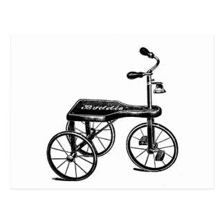 Cartão Postal Nostalgia do triciclo do brinquedo do vintage