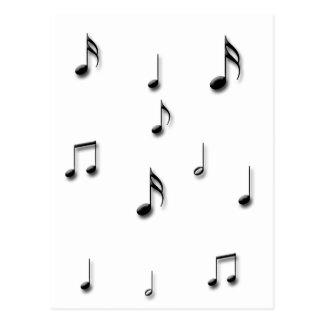 Cartão Postal Notas musicais