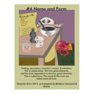 Cartão Postal Note o nome #4 e forme-o do aparecimento