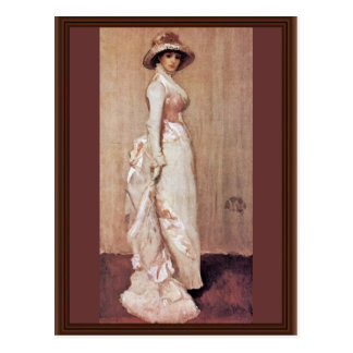 Cartão Postal Noturno no retrato cor-de-rosa e cinzento da