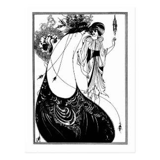 Cartão Postal Nouveau gótico Salome da arte do gótico preto e