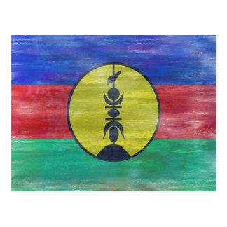 Cartão Postal Nova Caledônia afligiu a bandeira caledoniana nova