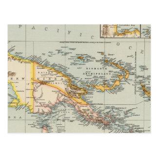 Cartão Postal Nova Guiné, arquipélago do Papuan