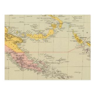 Cartão Postal Nova Guiné e Solomon Island