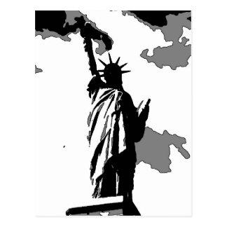 Cartão Postal Nova Iorque da estátua da liberdade