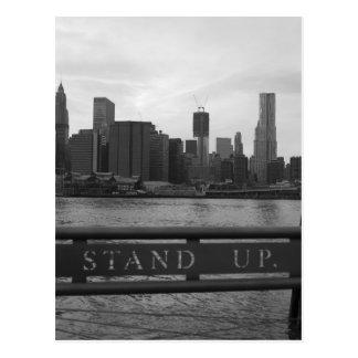 """Cartão Postal Nova Iorque da torre da liberdade - """"LEVANTE-SE"""" o"""