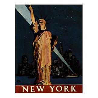 Cartão Postal Nova Iorque do vintage