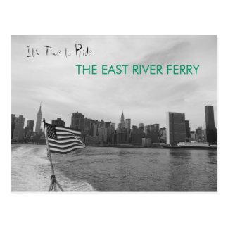 Cartão Postal Nova Iorque - monte a balsa de East River