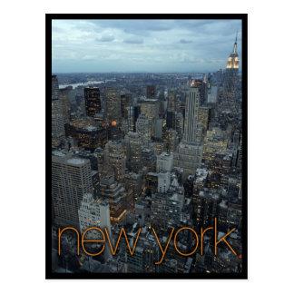 Cartão Postal Nova Iorque no crepúsculo