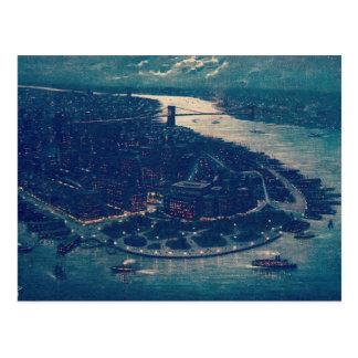 Cartão Postal Nova Iorque retro