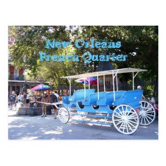 Cartão Postal Nova Orleães, casa de Louisiana & carruagem