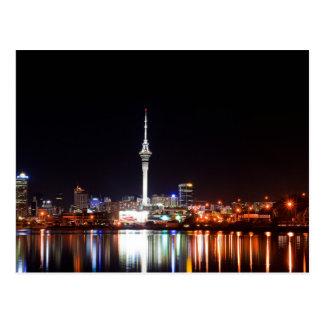Cartão Postal Nova Zelândia: Auckland na noite
